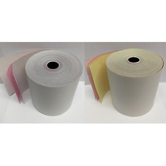 Square Star SP742ML 3 Ply White / Pink / White Paper Rolls (Box of 20)