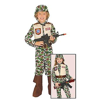 Childrens Special Forces Camouflage Fancy kjole kostume