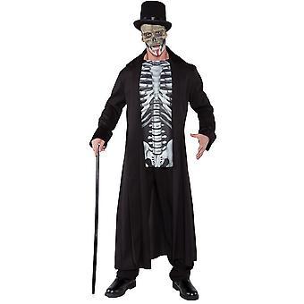 Skull Man Halloween Adult Costume