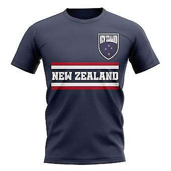 New Zealand Core Football Country T-Shirt (Navy)