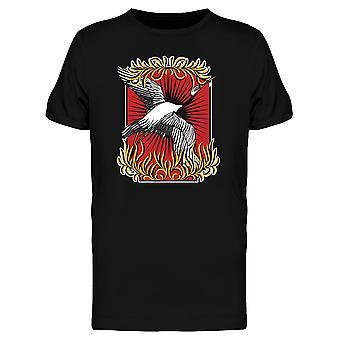 Fliegende Kran T-Shirt Männer-Bild von Shutterstock