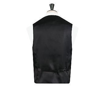 Dobell Herre sort/sølv vest dobbelt Breasted sjal revers Edwardian Swirl