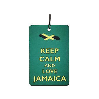 Mantieni la calma e amore Giamaica Car Air Freshener