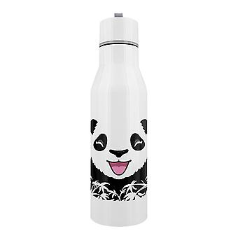 Grindstore Happy Panda Edelstahl-Wasserflasche