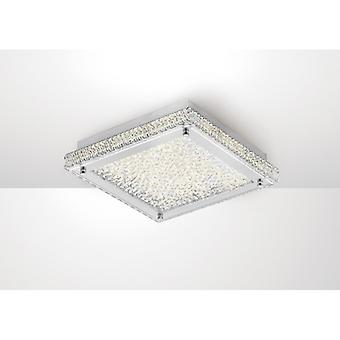 Amelia plafond 18W 1800lm LED 4000k roestvrijstaal/kristal