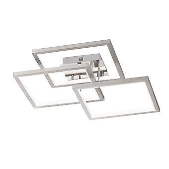 Wofi Viso - LED Flush Ceiling Light Matt Nickel - 9531.03.64.8400