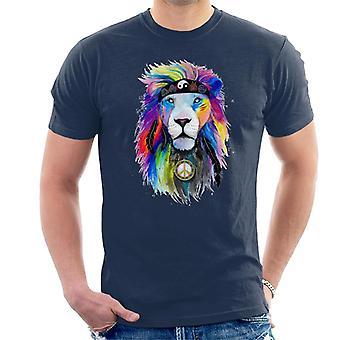 Hippie Lion mäns T-shirt