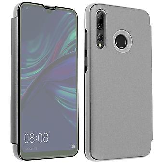 Flip Mirror Case Huawei P Smart 2019 / P Smart Plus 2019, Standing Cover Silver