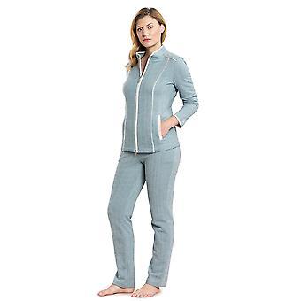 Feraud 3191064-11752 kvinders høj klasse Deep Sea blå bomuld Loungewear sæt