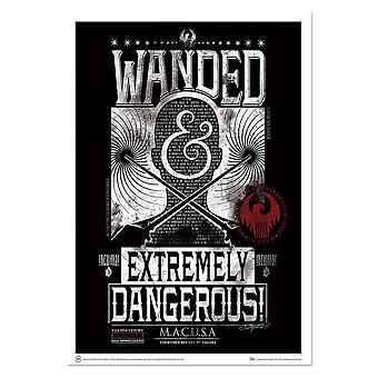 Poster - Fantastic Beasts - Art Print Wanded & Extremely Dangerous 18x24 fb-0213