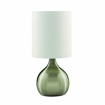 1 Light Table Touch Lamp Antique Brass With Fabric Shade