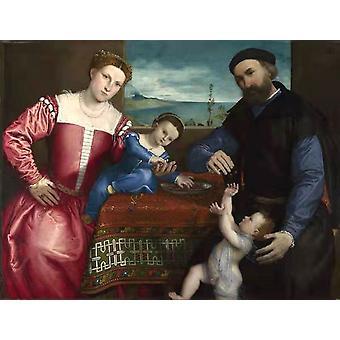 Giovanni della Volta with His Wife and,Lorenzo Lotto,50x38cm
