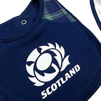 Scotland Rugby Baby 2 Pack Bibs | Navy/White