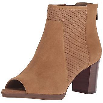 Bella Vita Womens Luna Leather Peep Toe Ankle Fashion Boots