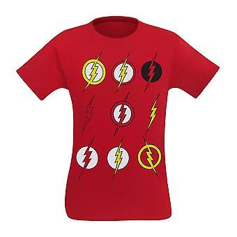 Flash multi symboler män ' s T-shirt