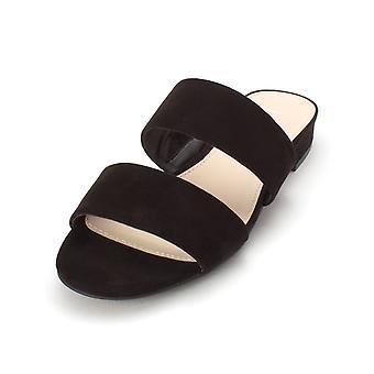 Bar III Womens Dreamer stof open teen casual dia sandalen