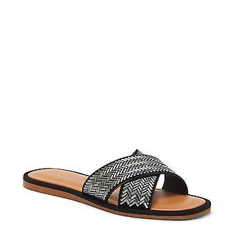 1. staat Womens Gelsey lederen open teen casual dia sandalen