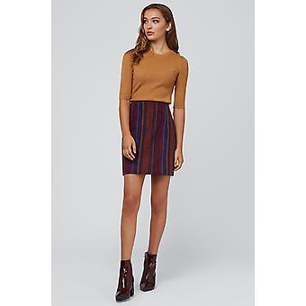 Louche Aubin Jacquard Striped Skirt