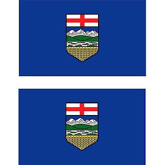 2 X Autocollant Sticker Voiture Pc Vinyl Macbook Drapeau Canada Canadien Alberta