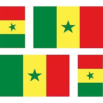 4 X Sticker Sticker Sticker Car Motorcycle Valise Pc Portable Flag Senegal Senegala