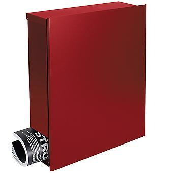 Konstrukcja skrzynek pocztowych z gazety pole MOCAVI Rubin czerwony (RAL 3003) 111 pole ściany list box 12 litrów