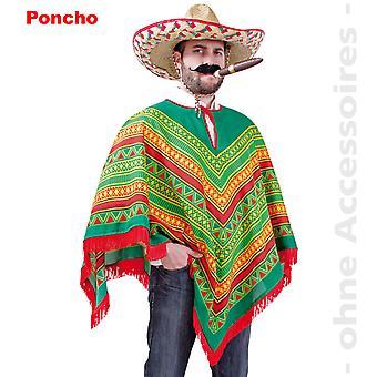 Poncho mexikanska kostym Rodrigo mexikanska kostym