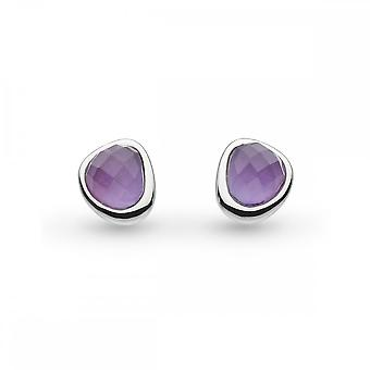 Kit Heath Coast Pebble Amethyst Mini Stud Earrings 3184AM027