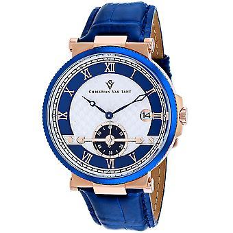 Christian Van Sant Men-apos;s Clepsydra Silver Dial Watch - CV1702