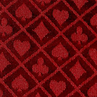10' Sezione di Red Two-Tone Poker Table Speed Cloth