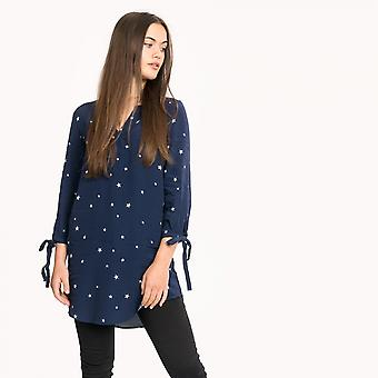 Joules Joules Odelle V cuello mujer túnica con lazo manga (Z)