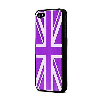 Moxie Aluminium Shell Brushed Fushia Flag England For Apple IPhone 5