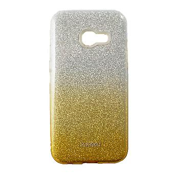 Hull For Samsung Galaxy A3 (2017) with Golden and Silver Strawberries