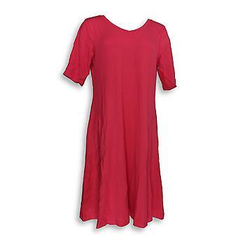 Isaac Mizrahi Live! Vestido SOHO Bebé Francés Terry Verdadero Rojo A353736