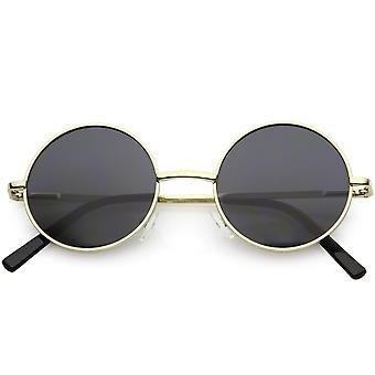 Retro Metalowe ramiona Okrągłe okulary przeciwsłoneczne Smoke Lens 47mm