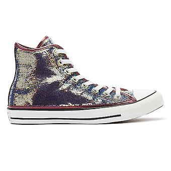 Converse All Star Mini Sequins Womens Pink / White Hi Trainers