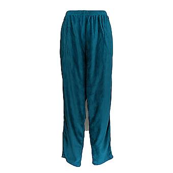 Stan Herman Women's Plus Lounge Pants Super Soft Velour Blue A368212