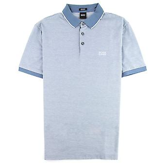 Hugo Boss lyhythihainen Prout Polo Blue 465