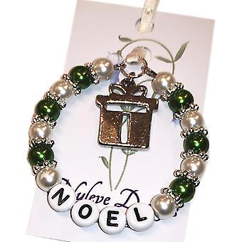 Nyleve Designs ręcznie świąteczna pamiątka w kolorze zielonym - Noel