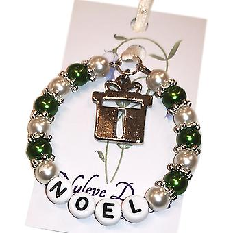 Nyleve designs håndlavet jul souvenir i grøn-Noel