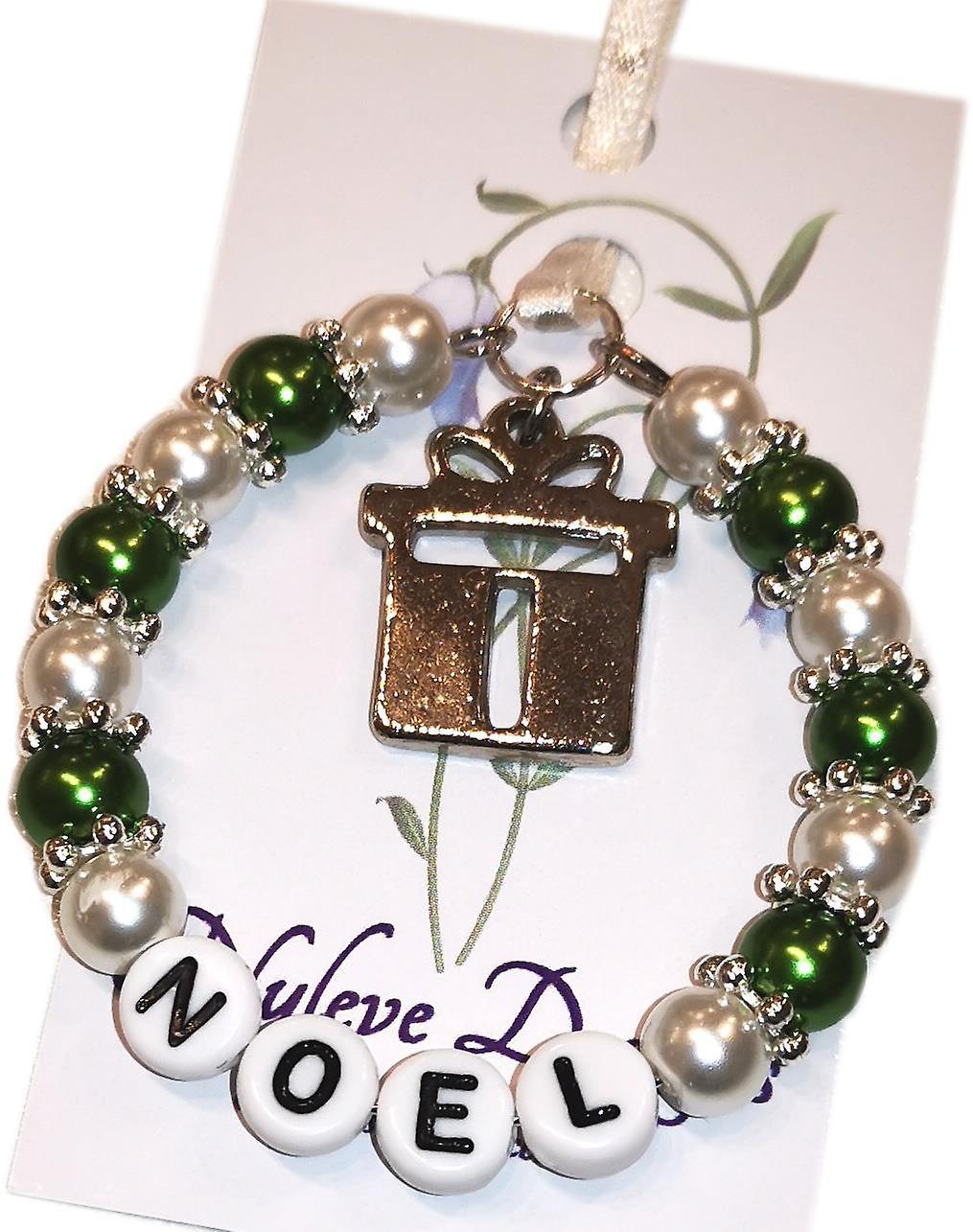 Nyleve Designs handmade Christmas Keepsake in Green - Noel