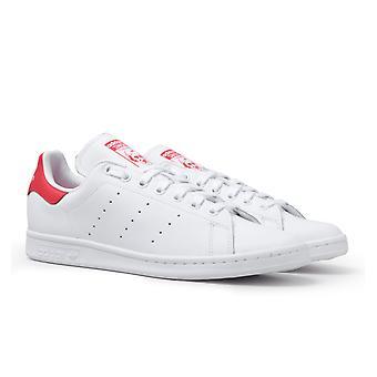 Adidas Originals stan Smith vit & röda tränare