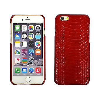 iPhone 6S,6ケース用,純正パイソンスネークスキンレザーシールドカバー,レッド