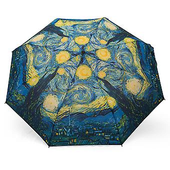 Umbrella automatic Pocket umbrella motif Van Gogh night