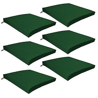 Gardenista Garden Chair Seat Pads | Slip Free Hypoallergenic Cushion | Water Resistant Thick Quality Cushion Pads | Great for Indoors & Outdoors | Secure Ties | 6 Pieces (Green)