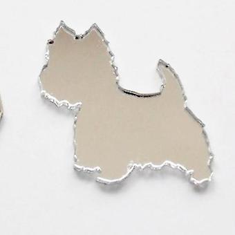 Westie / West Highland Terriër hond Mini Craft Sized acryl spiegels (10Pk)