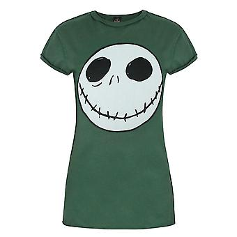 The Nightmare Before Christmas Women's Jack Skellington Reverse Seam T-shirt