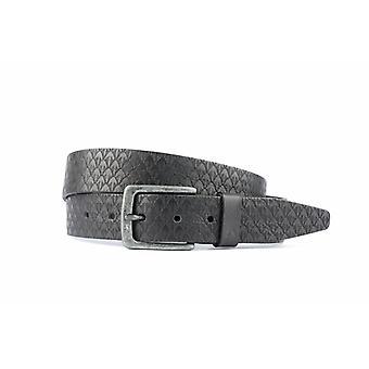 Bella cintura da uomo con fun struttura in colore nero