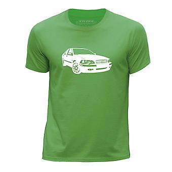 STUFF4 Boy's Round Neck T-Shirt/Stencil Car Art / S40 T4/Green