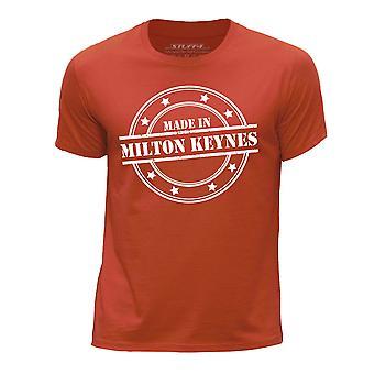 STUFF4 Boy's Round Neck T-Shirt/Made In Milton Keynes/Orange