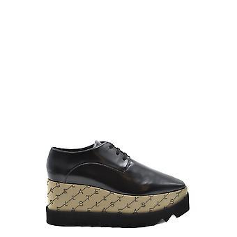 Stella Mccartney Ezbc427006 Mujeres's Zapatos de encaje de cuero negro de imitación